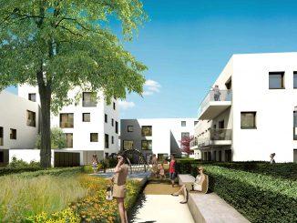 Neue Mietwohnungen der GWG im Süden Ingolstadts an der Hinterangerstraße