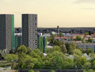 Hoch hinaus statt massiver Bebauung an der Grundstücksgrenze: das GWG-Projekt an der Weningstraße
