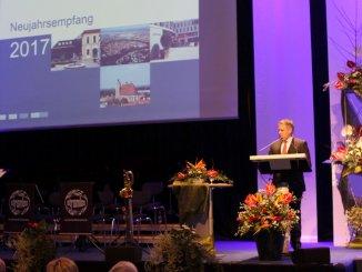 Oberbürgermeister Dr. Christian Lösel beim Neujahrsempfang 2017