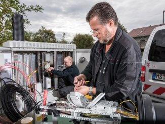 Die Telekom treibt mit ihrem Glasfasernetz die Digitalisierung voran