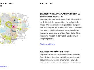 """Mit Themenschwerpunkt """"Stadtentwicklung"""" in Ingolstadt"""