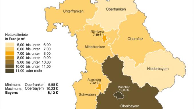 Am günstigsten lebt man im Freistaat im Regierungsbezirk Oberfranken