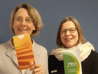 Über die gelungene Kooperation freuen sich Jutta Krause-Wegmann, Vorsitzende des Fördervereins, und Ira Schmalbrock, Projektleitung von Pro Beschäftigung