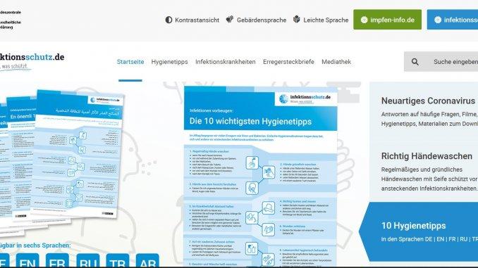 Auf der Website www.infektionsschutz.de stehen Infografiken mit Hygienetipps und Infomaterialien zum Download bereit.