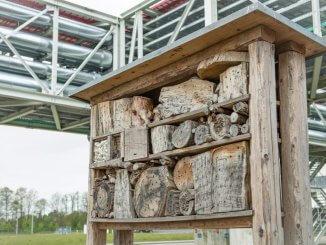 Insektenhotel in der Audi-Fertigung Münchmünster