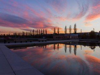 Sonnenuntergang am Landschaftssee