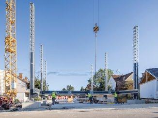 Projekt in Wallenhausen voll unterkellert mit drei Stockwerken und fünf Wohnungen